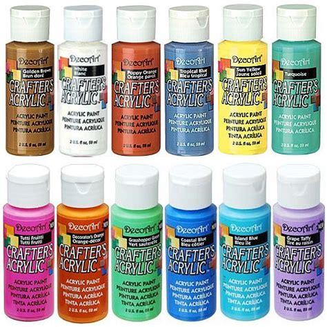 acrylic paint uk decoart crafters acrylic paint 59ml 94 assorted