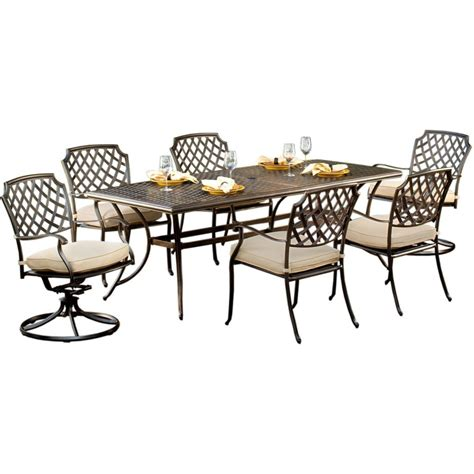 agio patio dining set agio 7 patio dining set heritage collection review