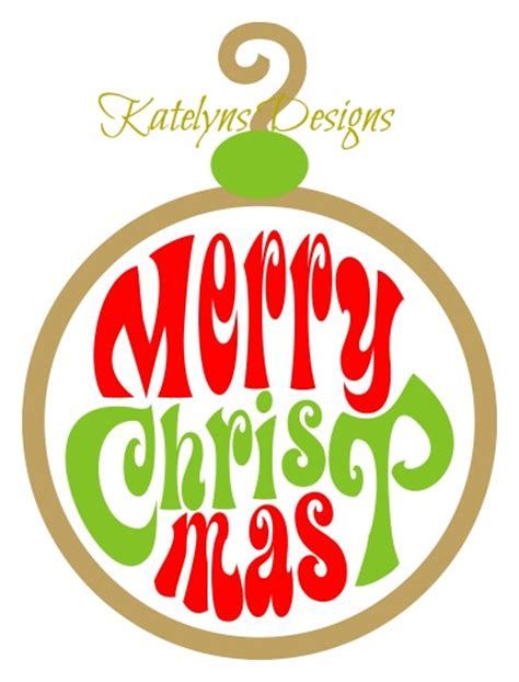 merry ornament meryy ornament svg