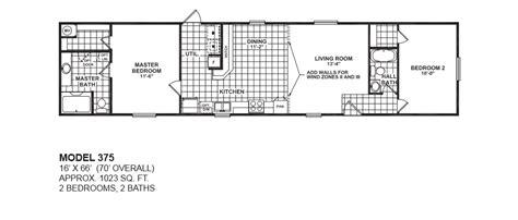 2 bedroom home model 375 16x66 2bedroom 2bath oak creek mobile home
