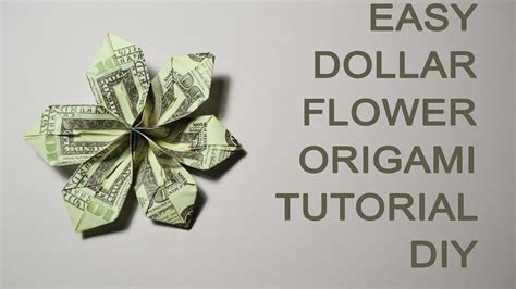 money origami tutorial easy dollar money flower origami tutorial diy bills gift