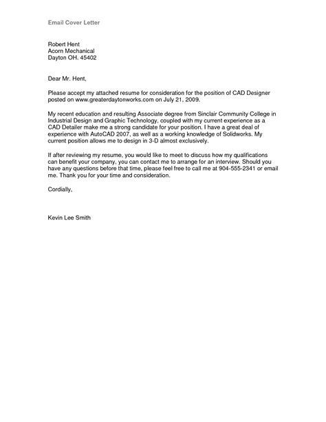 cover letter format email best template collection