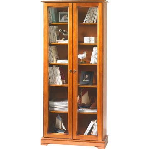 biblioth 232 que 2 portes vitr 233 es plaqu 233 e merisier louis philippe beaux meubles pas chers