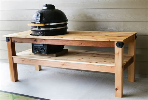 grill table plans diy kamado grill table
