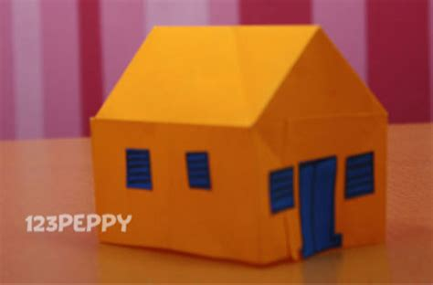 how to make paper crafts at home how to make a house with color papers 123peppy