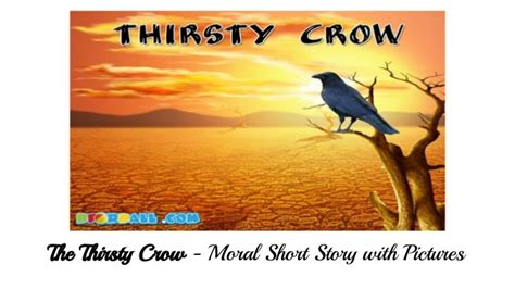 The Thirsty Moral Story With Pictures For