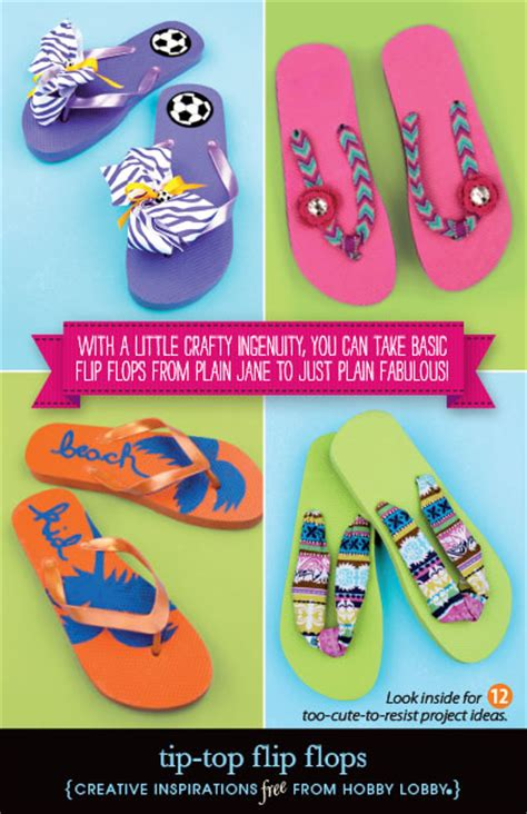 hobby lobby craft projects hobbylobby projects tip top flip flops