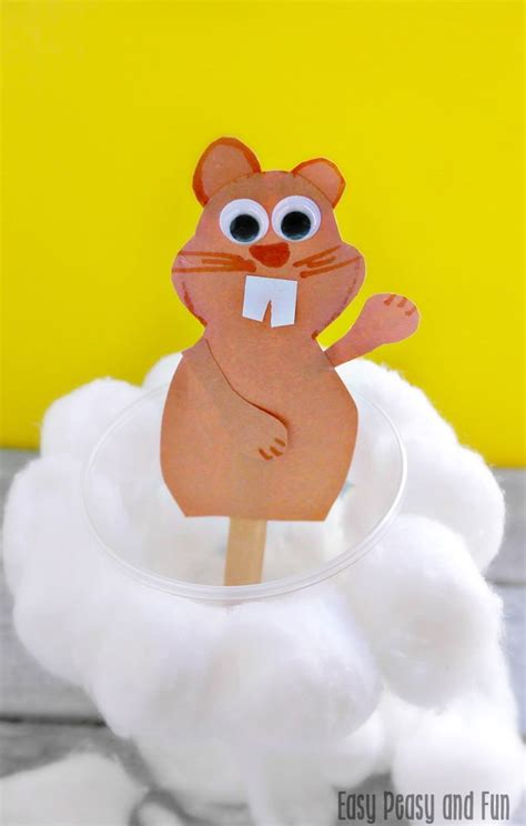 groundhog day crafts for simple groundhog day craft easy peasy and