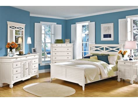 plantation bedroom furniture plantation cove white 5 pc panel bedroom package value