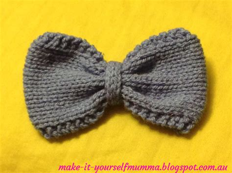 how to knit a bow make it yourself mumma knitted bows tutorial free patterns