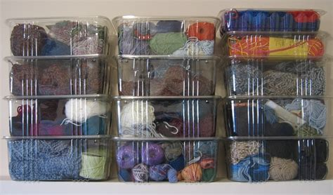 knitting storage containers yarn storage using organic salad green containers