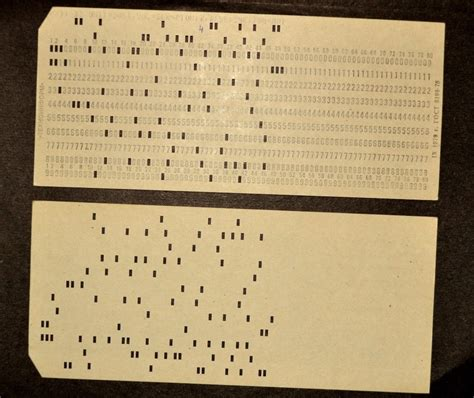 punches card vintage punched card perforated program code soviet ussr