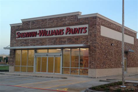 sherwin williams paint store tx mid west steel justice retail center avid building systems