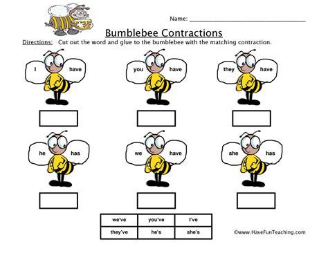 for printables bumblebee worksheet teaching