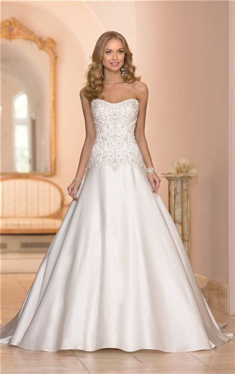 beaded corset wedding dress gown strapless satin embroidery beaded corset wedding