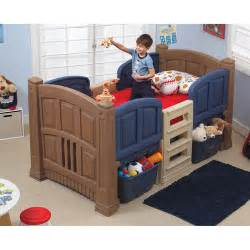 boys size beds step2 boys loft storage bed walmart