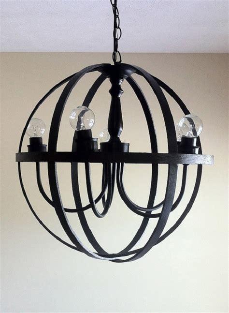 orb chandelier diy diy black orb chandelier decoist