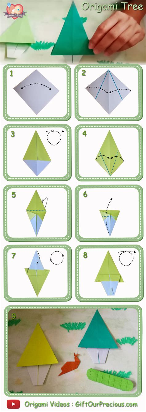 origami tree step by step simple origami tree gift our precious