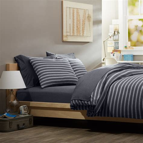 masculine bedding sets reversible white and blue pattern comforter sets with