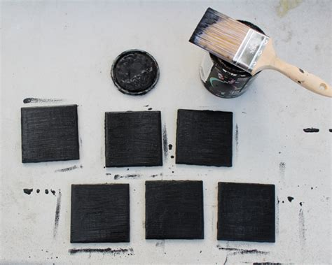 chalkboard paint cure time how to make chalkboard coasters crafting a green world