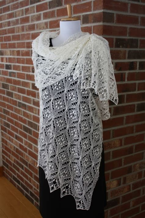knit lace scarf all knitted lace pattern release quatrefoil lace scarf
