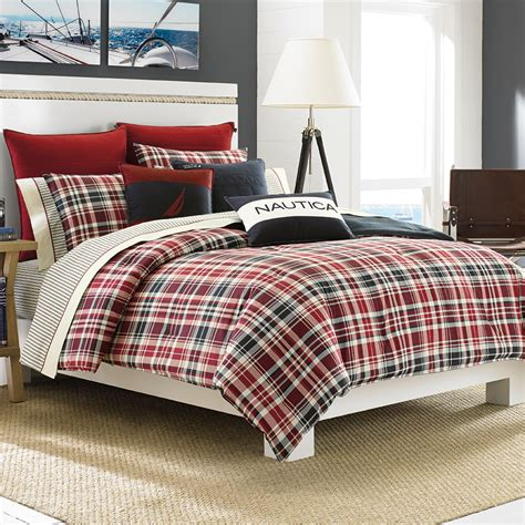 plaid bedding sets mainsail plaid comforter set from beddingstyle