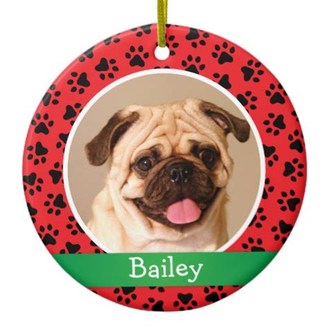 personalized family ornaments with pets personalized puppy pet photo ornament zazzle