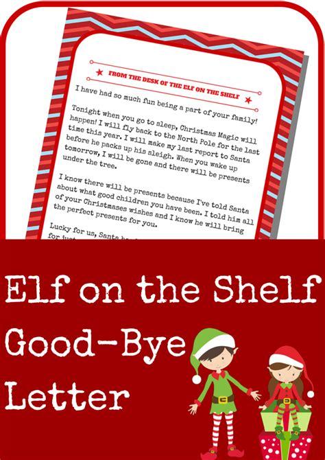 elf on the shelf goodbye letter template elf on the shelf good bye letter a grande life