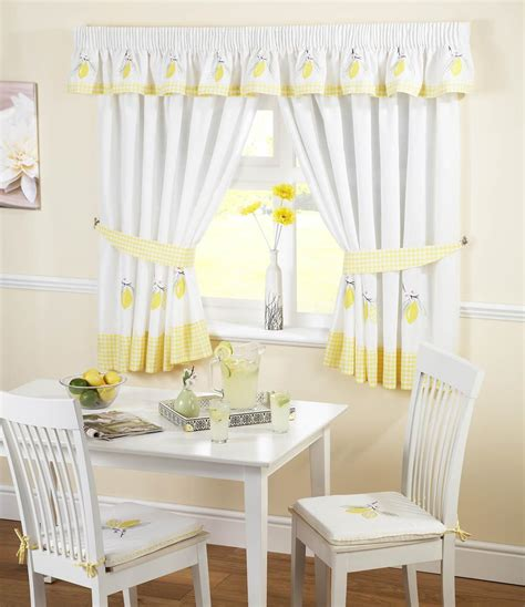 and white kitchen curtains lemons kitchen curtains white yellow free uk delivery