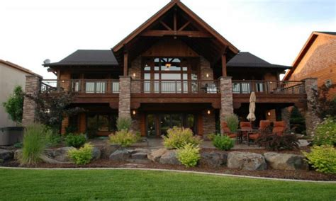 walk out basement plans luxury hillside house plans with walkout basement new home plans design
