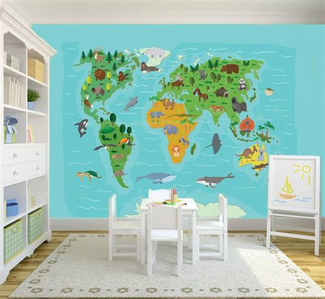 Jungle Wall Mural mural world map kids walldesign56 wall decals murals