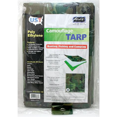 home depot paint tarp 10 ft x 12 ft camouflage tarp tp1012 12 the home depot