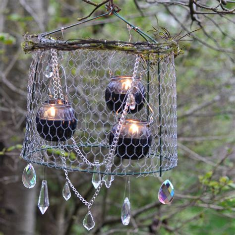 tomato cage chandelier diy outdoor chandelier