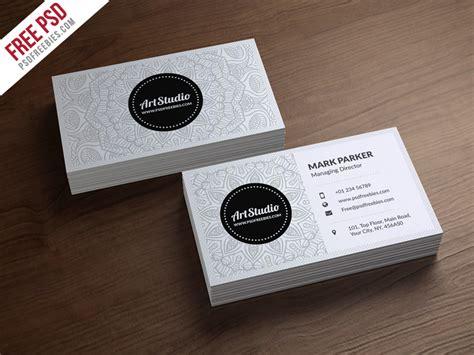 Creative White Business Card Free Psd Psdfreebies