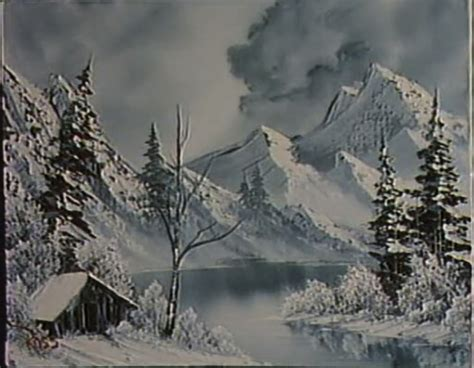 bob ross painting black and white of course bob ross was a but this episode was on