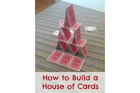 how to make a house of cards for beginners how to build a house of cards bedtime mathbedtime math