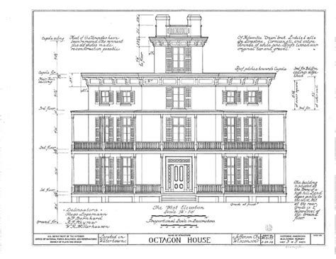 historic house plans authentic octagonal country house plans