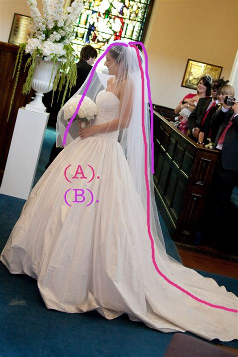 how to sew on a veil diy cathedral veil tutorial rock my wedding uk wedding