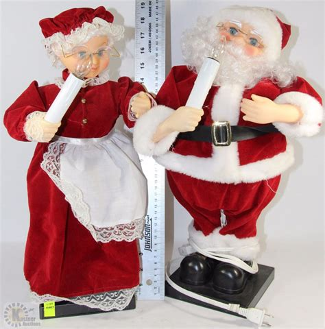 animated mr and mrs claus light up animated mr and mrs santa claus