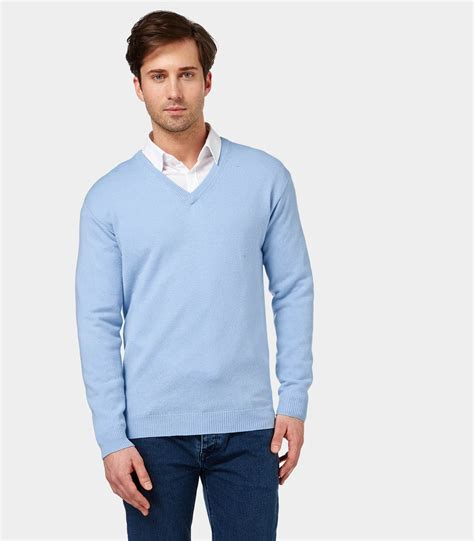blue knitted jumper mens pale blue mens lambswool v neck knitted sweater
