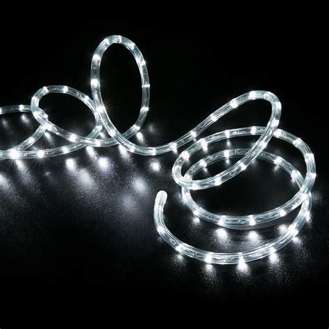 white rope lights 150 cool white led rope light home outdoor