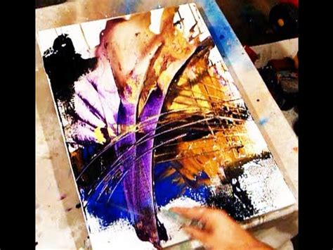 acrylic paint effects on canvas two best tricks in creating acrylic painting effects and