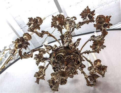 oak leaf chandelier 19th c bronze chandelier with oak leaf motif for