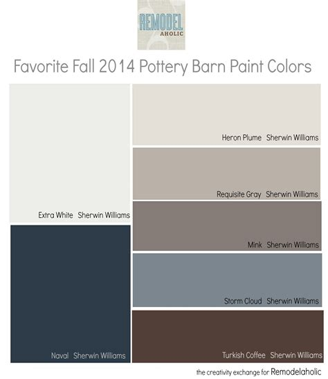 paint colors pottery barn favorites from the fall pottery barn paint collection