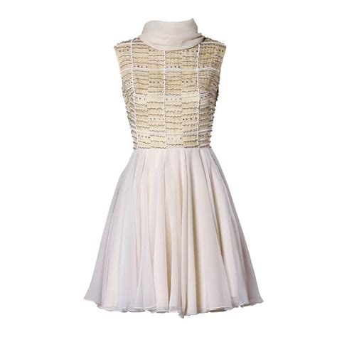 vintage beaded dresses for sale 1960s vintage beaded pearl rhinestone organza dress for