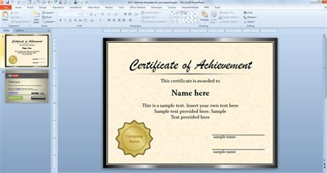 diploma template for powerpoint