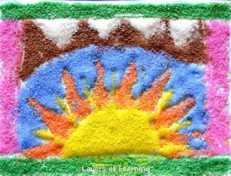 sand crafts for american sand painting craft layers of learning