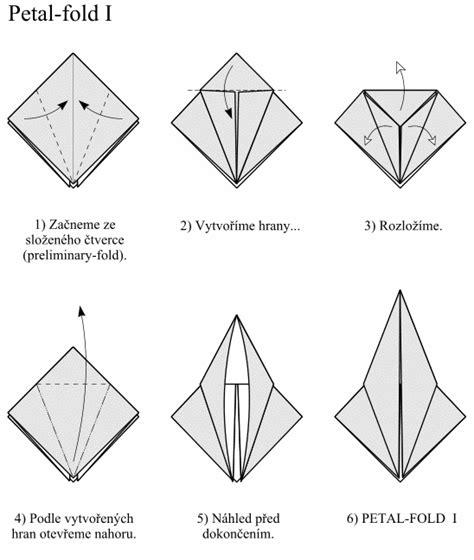 petal fold origami mal 225 škola origami
