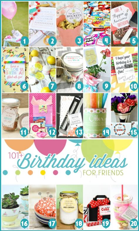 ideas for birthday 101 easy birthday gift ideas and free printables