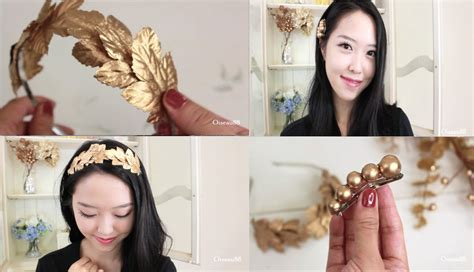 how to make hair jewelry diy hair accessories gold leaf headband and hair